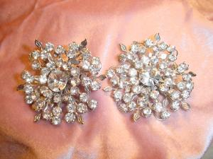 Elizabeth Morrey rhinestone earrings (Image1)