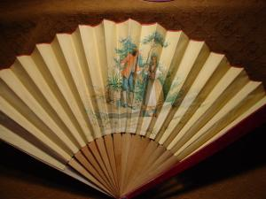 Victorian Painted Scene Fan