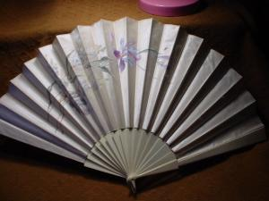 Victorian Ivory And Satin Fan