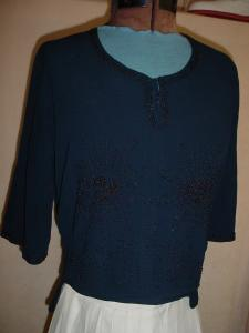 1920's Sheer Beaded Blouse (Image1)