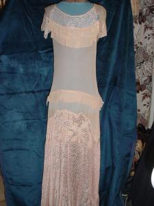 1920's Sheer Lace Flapper Dress (Image1)