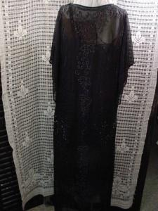 1920's Sheer Flapper Evening Dress Beaded (Image1)