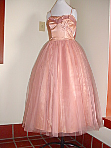 Fabulous 1950's Bronze Prom/Evening Dress (Image1)