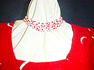 1930's Red & White Polka Dot Necklace (Image1)