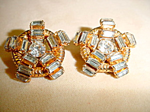 Nautical Rhinestone Hattie Carnegie Clips (Image1)