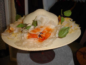 Wide Brim Yellow Straw Hat (Image1)