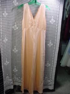 1930's Satin Soft Peach Nightgown (Image1)