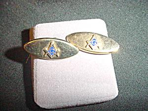 Vintage Masonic Mason Goldtone Cufflinks (Image1)