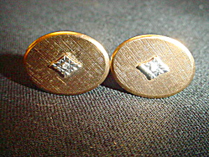 Vintage Artisan G.F. Cufflinks w/diamond chip (Image1)