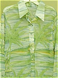 Men's long sleeve Palm Tree shirt (Image1)