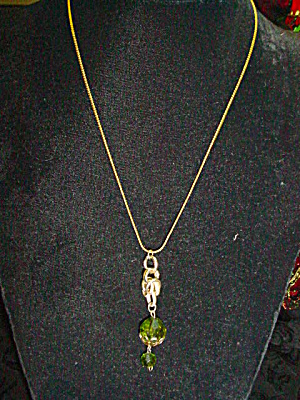 Goldtone drop Pendant Necklace (Image1)