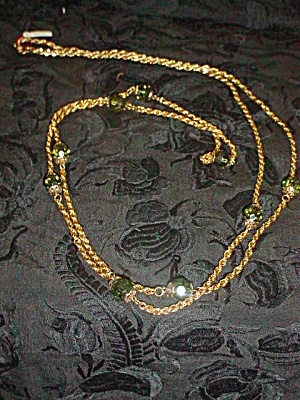 Long 30 inch 1960's Bead and Chain Necklace (Image1)