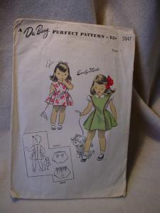 1940's Du Barry Child's Pinafore and Blouse (Image1)