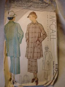 1935 McCall's 8182 Coat and Skirt Pattern (Image1)
