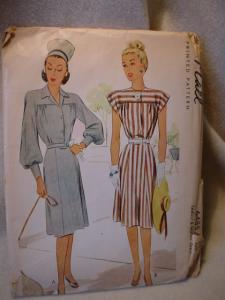 1946 McCall's #6485 Ladies' & Misses' Dress (Image1)