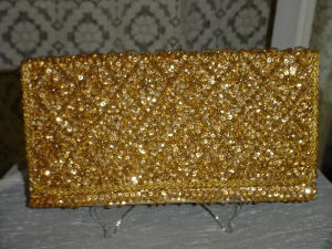 Gold Sequin Evening Clutch