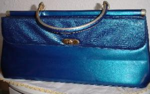 1960's deep blue double sided purse (Image1)