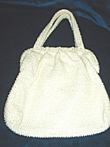 Vintage Corde Bead Purse/matching coin purse (Image1)