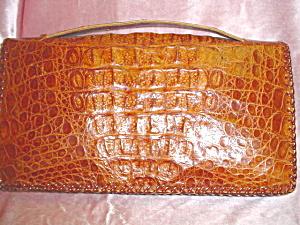 Vintage alligator envelope purse (Image1)
