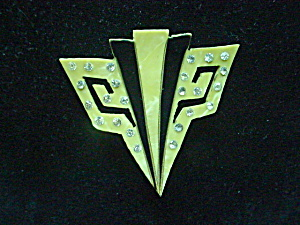 Vintage Art Deco Geometric Celluloid Pin (Image1)