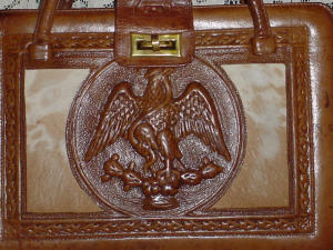 Eagle Tooled Leather Handbag