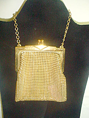 Whiting And Davis Goldtone Mesh Bag Purse Purses