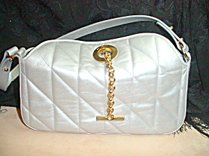 Silver Leather St. John Quilted Handbag (Image1)