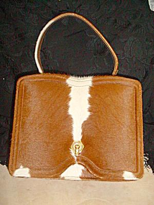 Vintage Calf Hide Leather Box Purse Mexico (Image1)