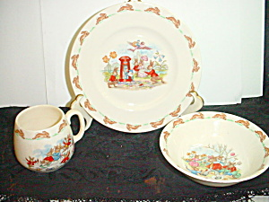 Vintage 3-Piece Royal Doulton Bunnykins Set (Image1)