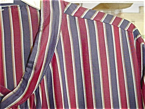 Mans Striped Silk Robe / Nightshirt (Image1)