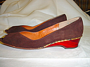 Vintage Brown Suede Jack Rogers wedge shoes (Image1)