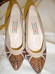 Vintage Stuart snake skin heels (Image1)