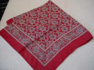 Liberty Of London Deep Red Patterned Scarf