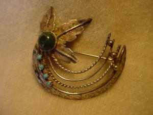 1948 Sterling Native American made Pin (Image1)