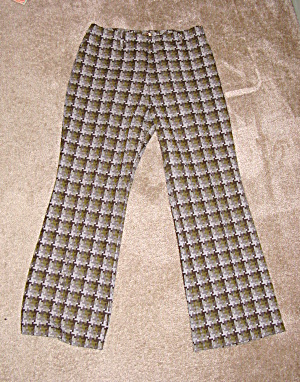 1970's Arthur Byer patterned bellbottoms, XL (Image1)