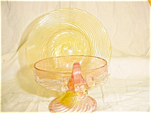 Vintage Venitian Art Glass Sherbert and Plate (Image1)