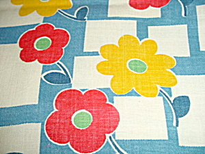 Vintage Floral 1930's-40's Cotton Fabric