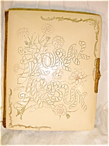 Victorian Celluloid Photo Album Floral Album (Image1)