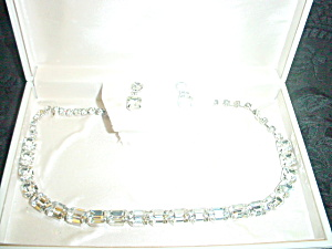 Weiss Clear Rhinestone Necklace Fantastic (Image1)