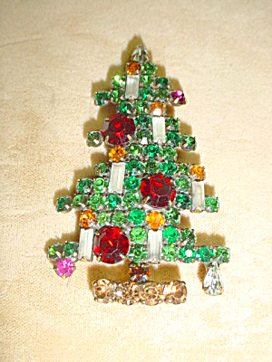 Vintage Weiss 6-candle Christmas Tree Pin