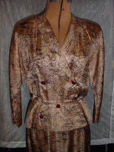 50's Abstract  cocktail suit (Image1)