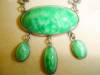 Click to view larger image of Art Deco Green Drop Silver Necklace (Image2)