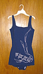 Click here to enlarge image and see more about item bal5008: Navy Embroidered Swimsuit