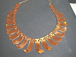 Click here to enlarge image and see more about item copb03: Vintage Renoir copper deco necklace