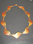Click to view larger image of Vintage two tone copper deco necklace (Image1)