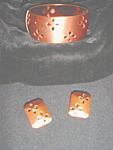 Whiting & Davis Copper Bracelet & Earrings