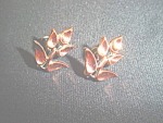 Click to view larger image of Vintage Renoir copper flower earrings (Image1)
