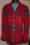 Click here to enlarge image and see more about item desh705: Lilli Ann Plaid Jacket