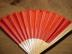 Click to view larger image of Victorian Red Satin Roses and Feathers Fan (Image5)