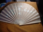 Click to view larger image of Victorian Ivory Hand Painted Fan (Image1)